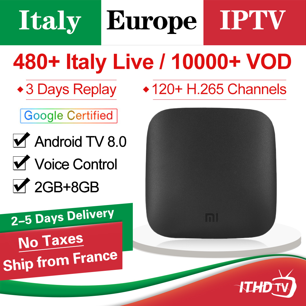 Italy IPTV Subscription Xiaomi Mi Box 3 Android Tv 8.0 Smart 4K HDR Mi TV Box IPTV Italia Arabic Spain Portugal Belgium IP TV-in Set-top Boxes from Consumer Electronics