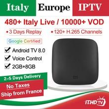 Italy IPTV Subscription Xiaomi Mi Box 3 Android Tv 8.0 Smart 4K HDR Mi TV Box IPTV Italia Arabic Spain Portugal Belgium IP TV цена в Москве и Питере
