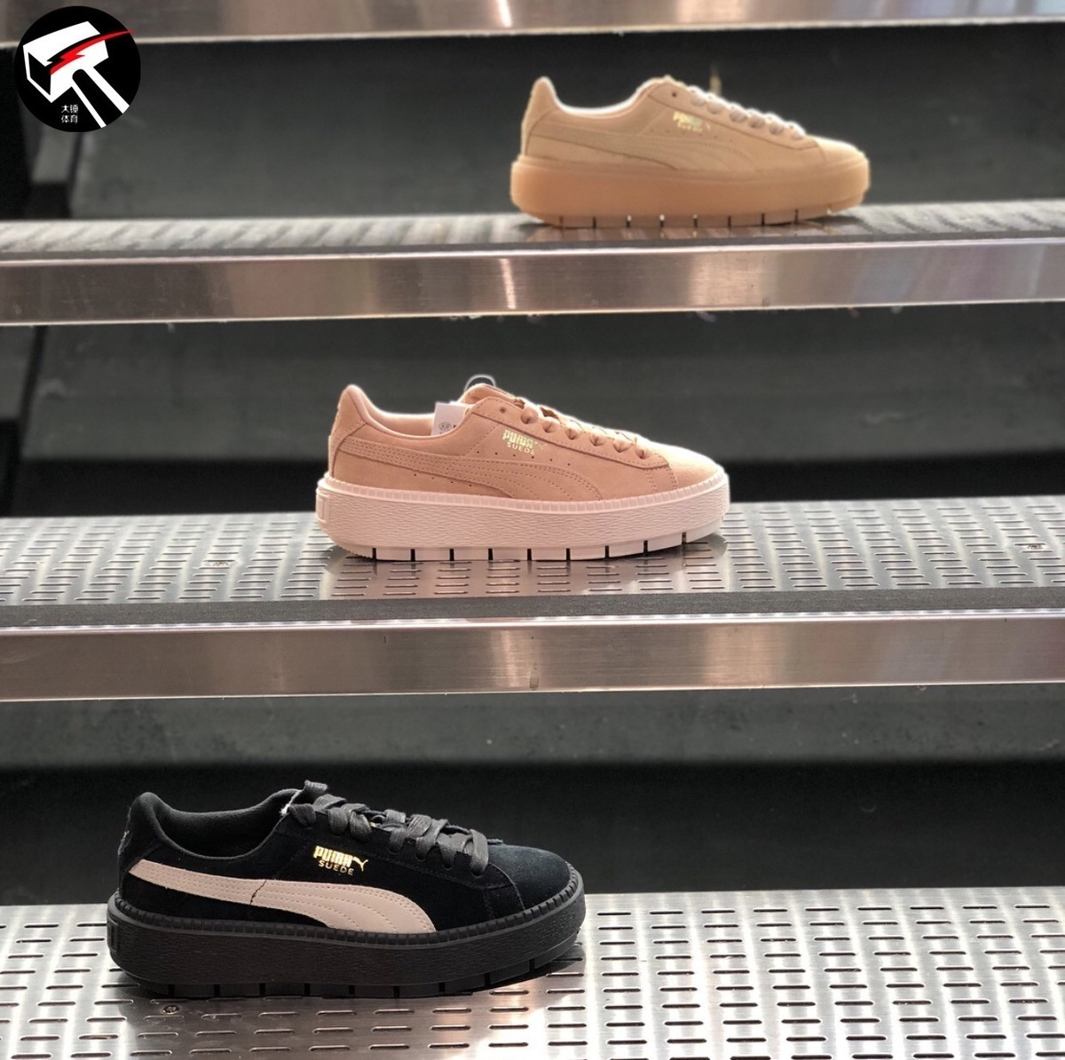 1f2ecc0be30 Original Puma Rihanna Muffin Shoes Black Increased Internal Classics  Skateboard Shoes Women Sneakers Lace-up