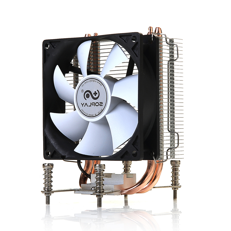 SOPLAY CPU Cooler 2 Heatpipes TDP 95W with PWM 3 pin 800-2000RPM 90mm Cooling Fan High Performance Silent Radiator computer cooler radiator with heatsink heatpipe cooling fan for hd6970 hd6950 grahics card vga cooler