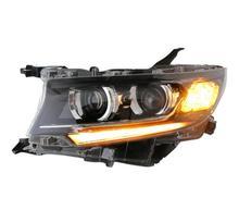 2 adet kafa lambaları araba styling için Cruiser Prado farlar 2017 2018 2019 LED arka lambası h7 Bi Xenon ışın mercek sarı dönüm