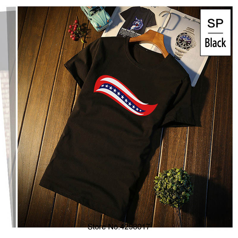 Printed Trump Hair Curl T Shirt Humorous Plus Size 3xl Men Tshirt Vintage Costume Camisa ...