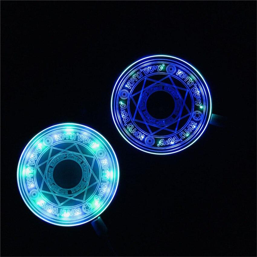 10W rapide sans fil Chargeur bloc cercle Chargeur Induction Charge Qi sans fil Charge lumière pour iPhone X Samsung S10 S9 Xiaomi CC9