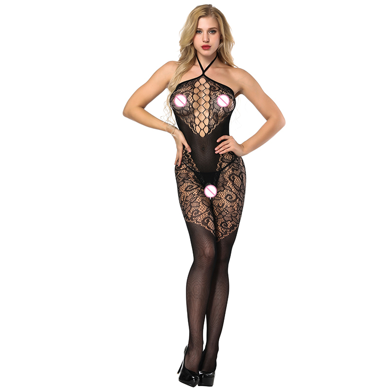 Sexy Lingerie For Women Sling Fun Siamese Mesh Sexy Underwear Women Open File Siamese Stockings Female Sex Flirting Suit