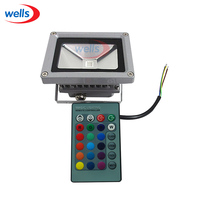 10W RGB LED Outdoor Flood Light Waterproof Multicolor 24key IR Remote 85 265V