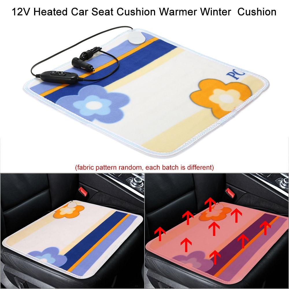 Universal 12V Heated Car Seat Cushion Cover Seat Heater Warmer Winter Household Cushion Cardriver Heated Seat Cushion 44x44cm