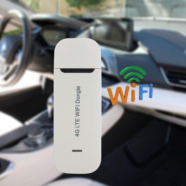 150Mbps Modem USB Auto Wifi Router Sbloccato 4G Wifi Router 3G/4G USB Dongle Con sim Card di Sostegno Slot Per Schede In America/Asia/Africa/Europa