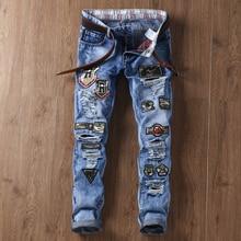 2017, весной и летом, новая версия Корейской прилив вышивка, самосовершенствование, flow holes, нищие, джинсы, мужская письмо
