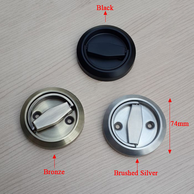 2PCS Stainless Steel Handle Locks Hidden Recessed Invisible Pull Rings Fire Proof Door Handles Cabinet Knobs Furniture Hardware new 2pcs lot 304 stainless steel handles hidden recessed invisible pull fire proof door handles cabinet knobs furniture hardware