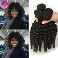 Kinky Curly brasileiro Cabelo Weave Bundles Brasileiro Virgem Do Cabelo Humano Extensões Tissage Bresilienne Tecer Encaracolado Curto 10 12 Polegada