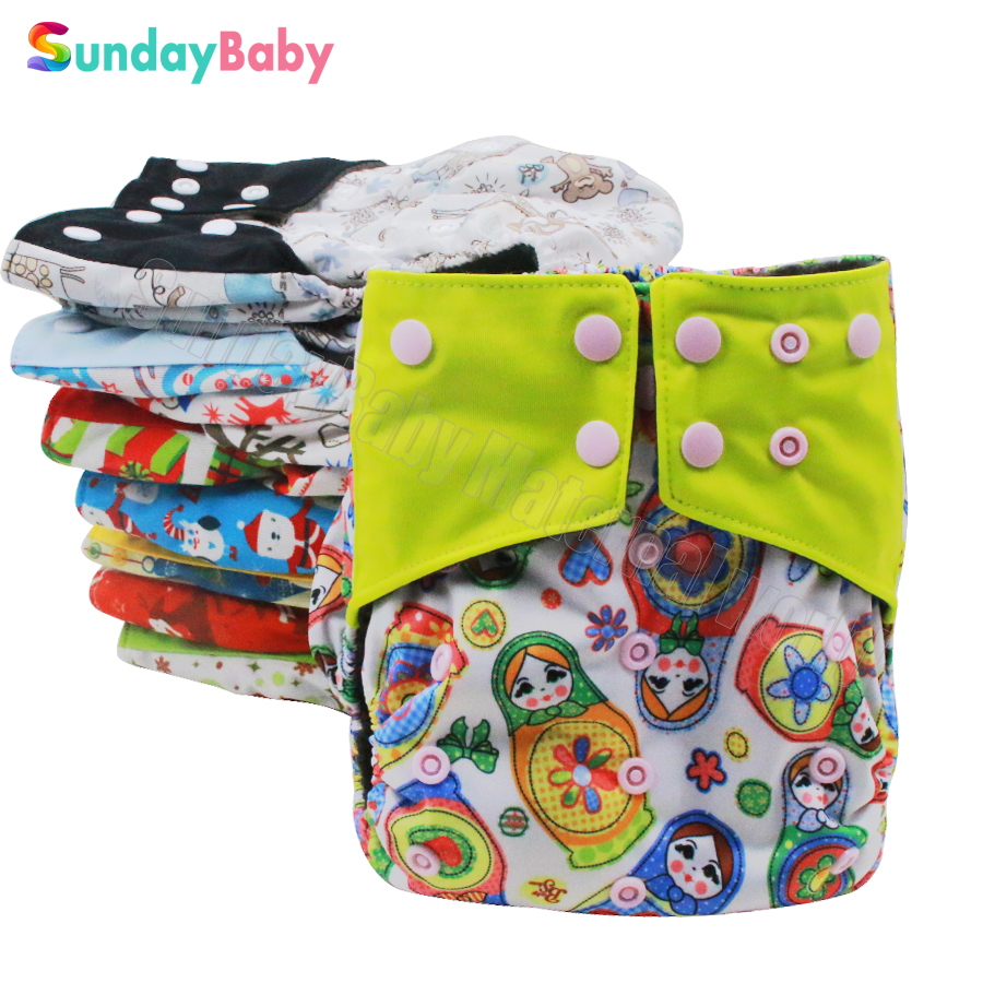 10pcs per lot bamboo charcoal inner baby cloth diapers reusbale baby nappies wholesale suit 0 3years