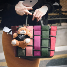 2016 Newest Designer Handbags High Quality Fashion Plaid Woven Handbag Shoulder Bag Retro Tote Bags Ladies Messenger Bags