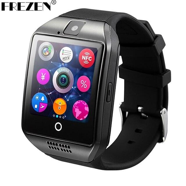 Frezen Bluetooth Smart часы Q18 SmartWatch с камерой MP3 SmartWatch поддержка SIM карты памяти для телефона Android PK DZ09 A1 GT08 U8