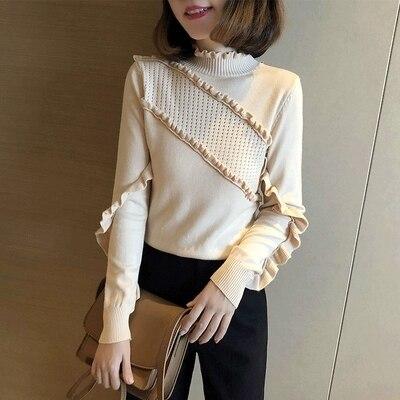4 New Top And high 2 1 Winter Sweater Half Autumn Loose Collar 3 qp7fa