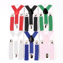 Детские костюмы, 1 шт. в горошек, подтяжки, 3 зажима, регулируемые рубашки, Детские подтяжки для маленьких мальчиков, подтяжки с ремнем