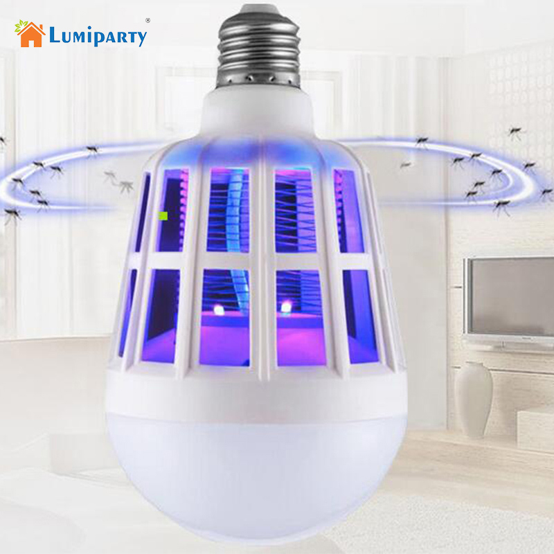 Lumiparty Mosquito Killer LED Bulb 220V 15W LED Bug Zapper Lamp E27 Insect Mosquito Repeller Night Lighting Killing Fly Bug