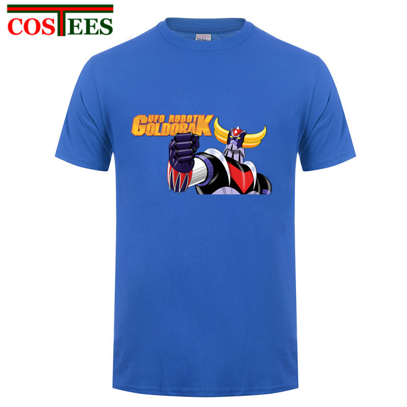 a9997e52a UFO Robot Grendizer T-Shirt men Homme Summer O-Neck T Shirts Short Sleeve  Cotton Fitness Man Tee Shirt Super Size Brand Clothing