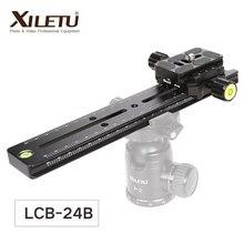 XILETU LCB 24B התארך מהיר שחרור צלחת ערכת 240mm קטרי החלק חצובה רכבת רב תכליתי אוניברסלי מסלול דולי Slider