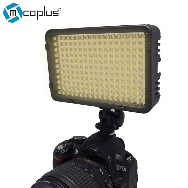 Mcoplus 322 Bi-Color Metal Hot Shoe LED Dimmable High Power Panel LED Camera / Camcorder Video Light for Digital SLR Cameras
