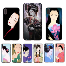 IMIDO Oriental womens classical and modern beauty Soft silicone phone case for iphone 7 8 X XS XR XSmax 5/6S 7/8/6s/6plus shell