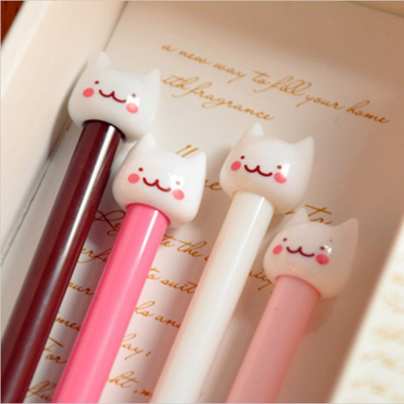 New Cute Cat Kawaii Korea Novelty Gel pens Stationery Creative Gift Stationery Toys Student 503