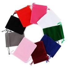 50 шт. 5x7 бархатная сумка с завязками мешочки небольшого размера ювелирные изделия Подарочные Упаковочные пакеты