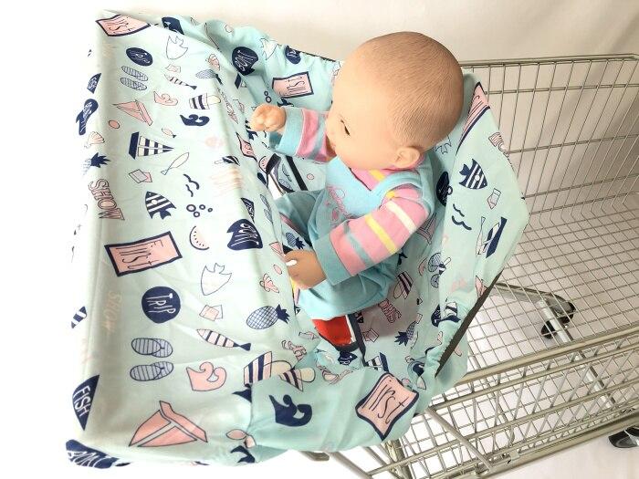 2в1 чехол на колесиках/Чехол на стульчик для кормления для младенцев и малышей/детский коврик на подушку для супермаркета корзина для покупок - Цвет: blue sailboat