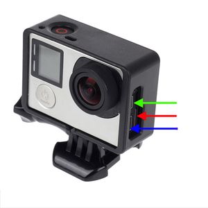 Image 3 - ملحقات GoPro لـ GoPro Hero 4 3 + 3 إطار حماية الحدود غلاف كاميرا الفيديو الإسكان لكاميرا Go Pro Hero4 3 + 3 Action