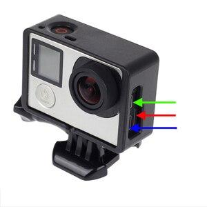 Image 3 - Gopro 액세서리 용 gopro hero 4 3 + 3 보호용 테두리 프레임 케이스 go pro hero4 용 캠코더 하우징 케이스 3 + 3 액션 카메라