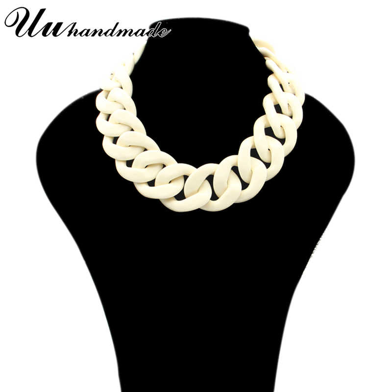 statement necklace jewelry vintage collares colar collier Women Acrylic simple  punk ethnic crystal choker necklaces 2017 New