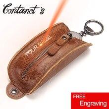 2018 font b Key b font Organizer Genuine Leather Keychain font b Wallet b font Men
