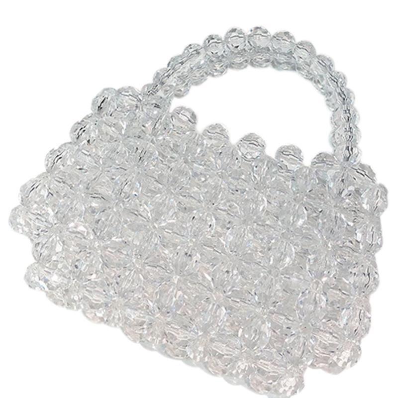 Sac cristal Transparent Designer perles gelée sac pochette sac Transparent bandoulière messagers femmes cristal sac à main pochette fourre-tout