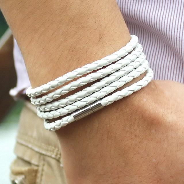 Unisex 5-Laps Leather Bracelet