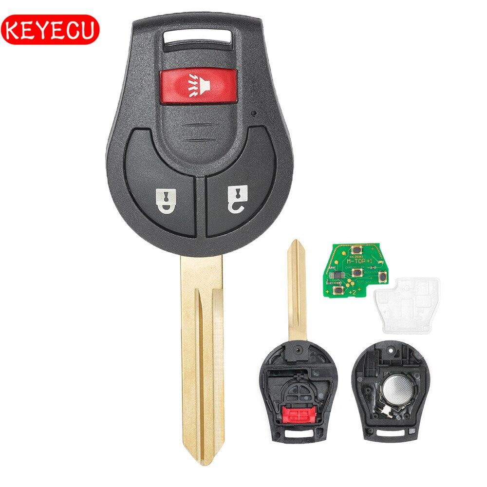 Keyecu Remote Key Fob 2+1 Button 315MHz/433MHz ID46 Chip for Nissan Rouge Cube Juke Versa FCC: CWTWB1U751