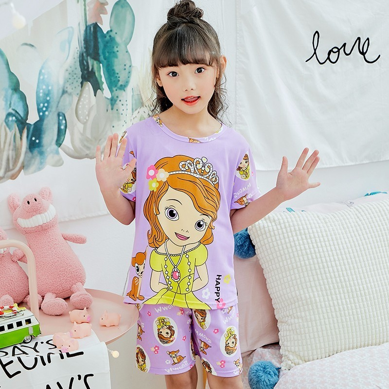 Childrens Day Gift Kids Cartoon Lovely Girls Pajamas New Arrival WAVMI Childrens Short-sleeved Shorts Suit Fashion Home WearChildrens Day Gift Kids Cartoon Lovely Girls Pajamas New Arrival WAVMI Childrens Short-sleeved Shorts Suit Fashion Home Wear