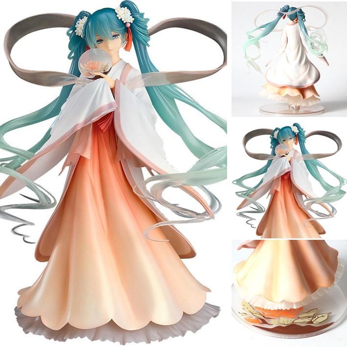 Hatsune Miku Figure Harvest Moon Ver. PVC Vocaloid Action Figure Hatsune Miku Collectible Model Toy Girls Gift 22cm 1pcs vocaloid hatsune miku deep sea pvc action figure model collection toy retail