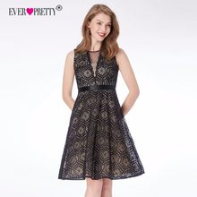 Lace Cocktail Dresses Ever Pretty AS04043 Cheap A-line Sleeveless Black Vintage Mini Homecoming Dress Fashion Party Dresses(China)