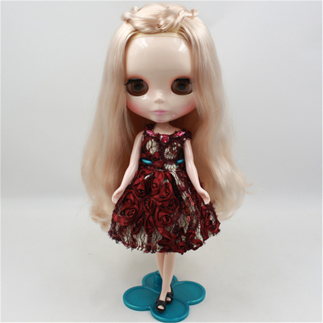 bonecas Blyth doll nude gold bangs long hair 12 inch