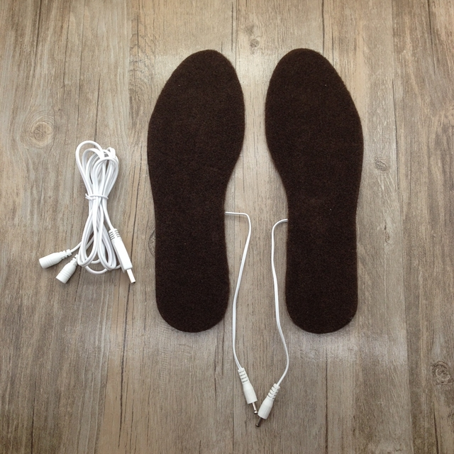 Electric USB Heated Insoles 5V Warm Feet Hiking Shoes USB Shoes Inserts Men Women Snow Boots Heater Size 36~43 Cut to Fit