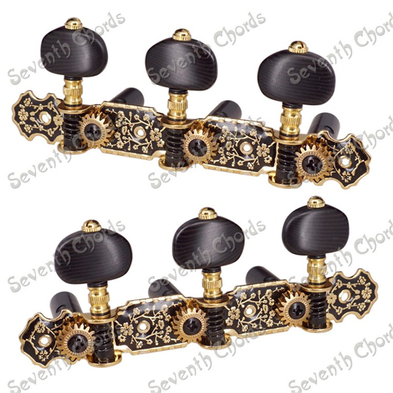 A Set 2 Pcs High Quality Gold String Tuning Peg Tuners Machine Heads for Classical Guitar a set of 3r3l string tuners tuning peg machine heads for classical guitar