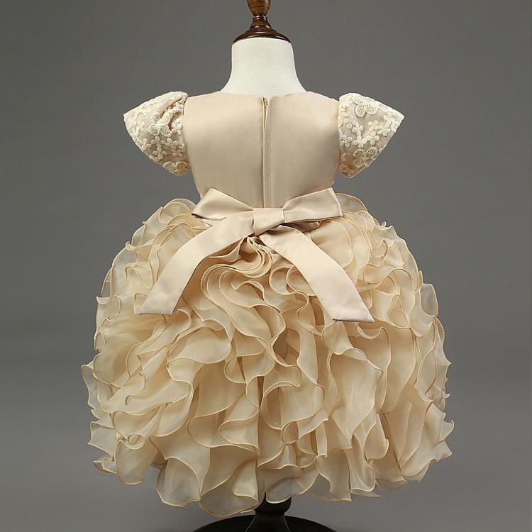 Uşaqlar körpə qızlar krujeva Tül çiçək Princess paltarı - Uşaq geyimləri - Fotoqrafiya 2