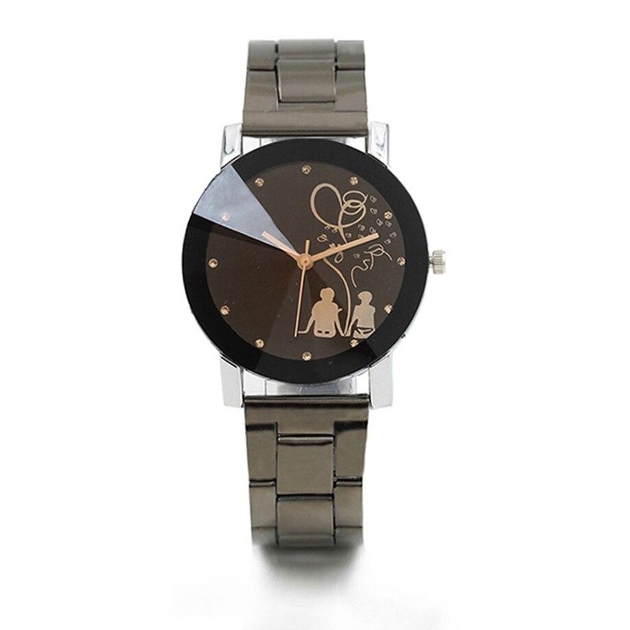 New Fashion Couple Watch Women Mens Watches Luxury Brand Steel Band Casual Ladies Quartz Wrist Watch Lover's Watch Drop Shipping