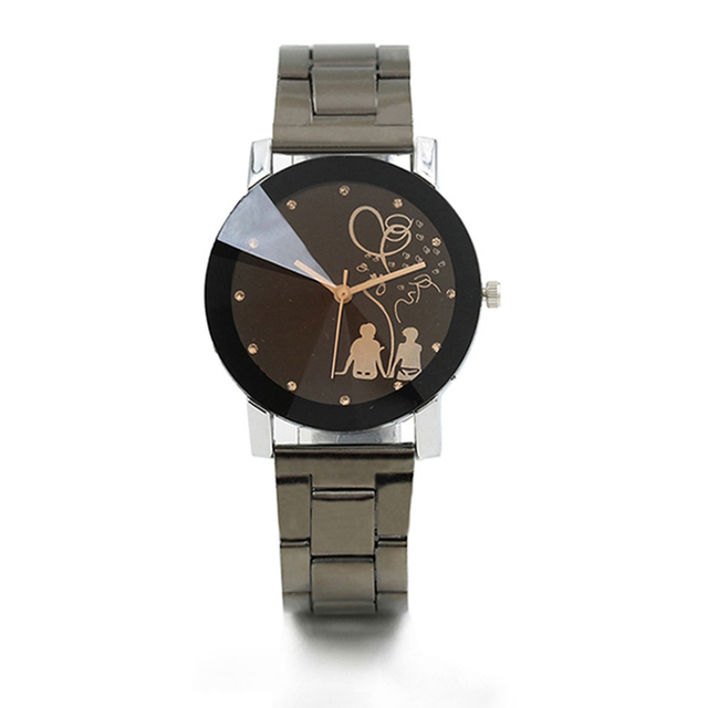 New Fashion Couple Watch Women Mens Watches Luxury Brand Steel Band Casual Ladie
