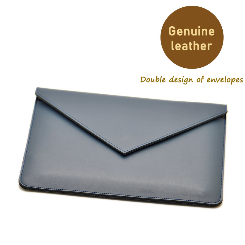 Envelope Laptop Bag super slim sleeve pouch cover,Genuine leather NoteBook laptop sleeve case for Apple MacBook Pro 13/15 2017 arrival selling ultra thin super slim sleeve pouch cover microfiber leather laptop sleeve case for dell xps 13 15 9360 9560
