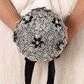 Высокое качество 2016 роскошный индивидуальные свадебное YIYI букет с перл из бисера брошь свадьба красочные невеста букет WD042