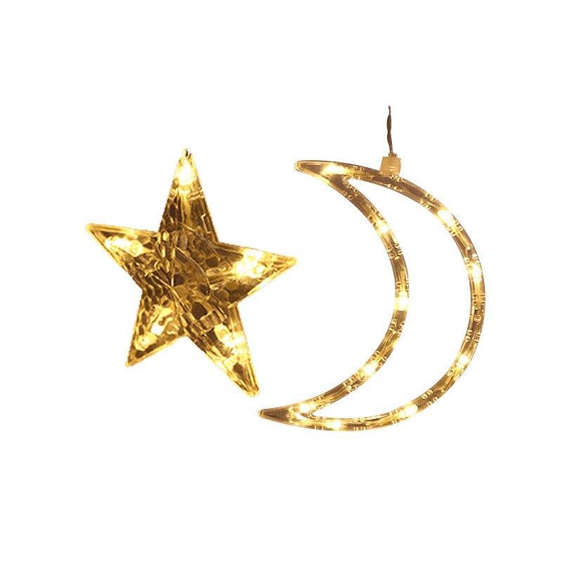 Plug In Led Moon Star Curtain Lights Fairy String Shop