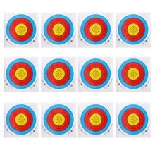 12 peças 40x40cm profissional tiro com arco alvo papel para arco recurvo longbow