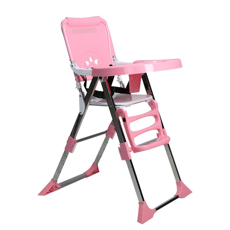 Baby High Chair Baby Hihgchair Portable Feeding Chair Portable Folding Kids Table and Chair Children Child Eating Dinning Chair high quality adjustable height protection vision for children learning set of table and chair