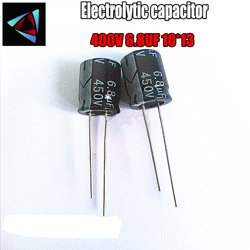 12PCS Higt Quality 400V 6.8UF 10*13mm 6.8UF 400V 10*13 Electrolytic Capacitor
