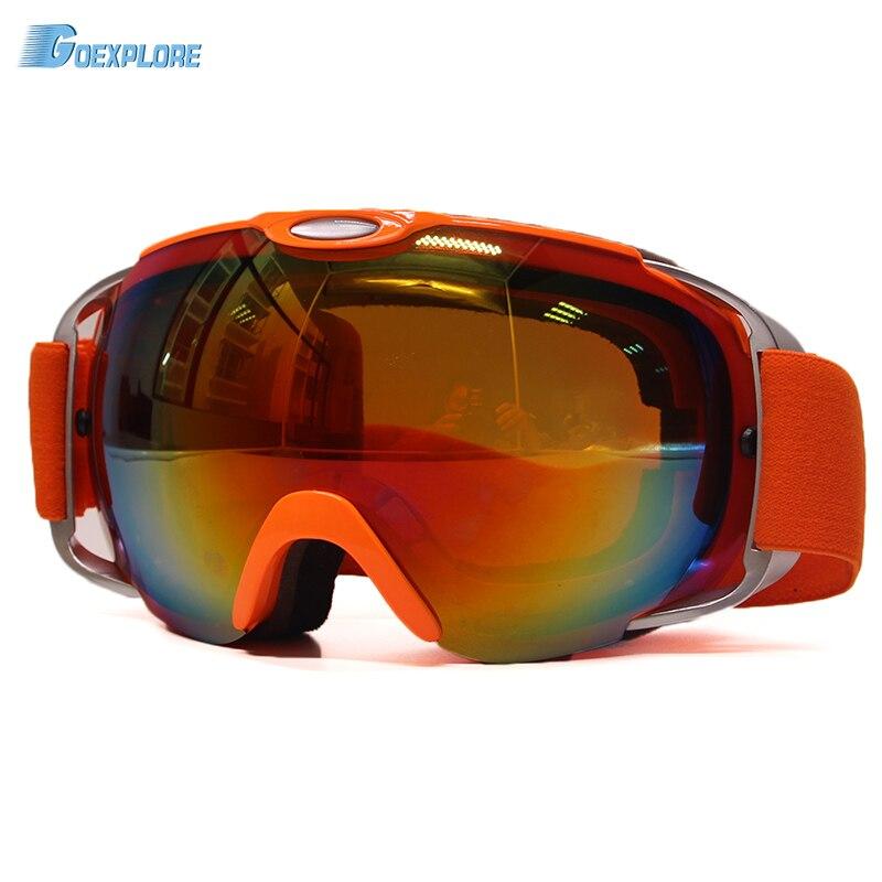 Outdoor Ski Goggles Windproof Glasses Dustproof TPU Snow Glasses Men Motocross spherical lens UV protect anti-fog Skiing Eyewear